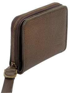 Pollini Pollini Wallet - Bronze Textured Leather Wallet