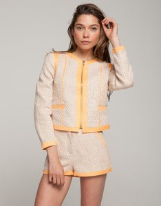 SuperTrash Tweed Orange Blazer