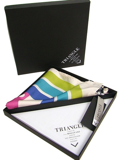 Anna Molinari Anna Molinari Triangle Scarf - Abstract Silk Print Scarf