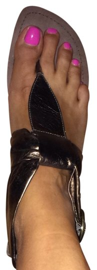 Madden Girl Gladiator Metallic Wedge Size 9 Bronze Sandals