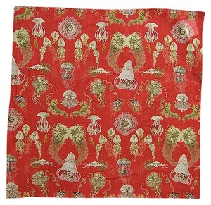 Jean-Paul Gaultier Jean Paul Gaultier Accessories - Red Print Cotton Scarf
