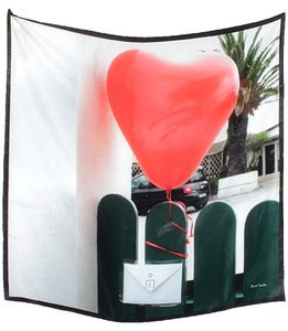 Paul Smith Paul Smith Accessories - Heart Balloon Print Silk Scarf