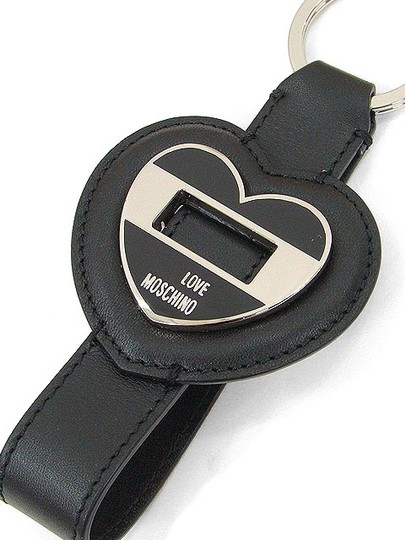 Love Moschino Love Moschino Accessories - Black Leather Heart Keyring