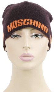 Moschino Love Moschino Accessories - Brown and Orange Wool Knit Beanie Hat