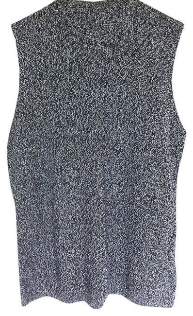 Jones New York Vest Speckled Thick Knit Knit Neck Sweater