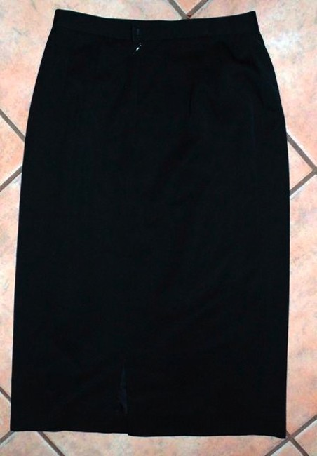 SAKS FIFTH AVE ANNE KLEIN P535 Maxi Skirt BLACK