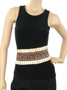 Basso & Brooke Basso & Brooke Belt - Ivory Pleated Silk Beaded Belt