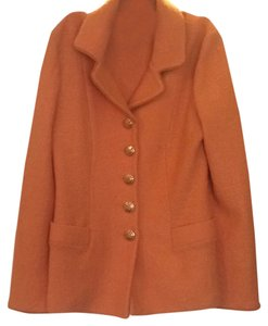 St. John St. John Orange Knit Suit Jacket