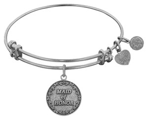 Angelica Silvertone Maid of Honor Charm Bracelet