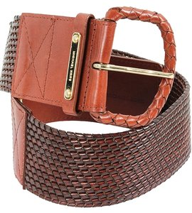 Michael Kors Michael Kors Belt - Brown Leather Woven Belt