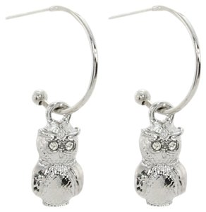 other Owl Charming Hoops Drop Earrings