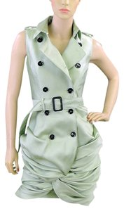Burberry Trench Silk Sleeveless Pea Coat