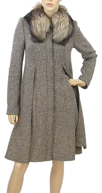 Preload https://item5.tradesy.com/images/escada-brown-ivory-oatmeal-tweed-with-fur-collar-pea-coat-size-4-s-908864-0-0.jpg?width=400&height=650
