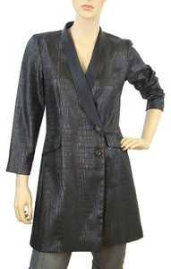 Jay Godfrey Crocodile Embellished Raincoat