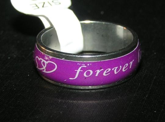 Silver/Purple Bogo Free Stainless Unisex Free Shipping Ring
