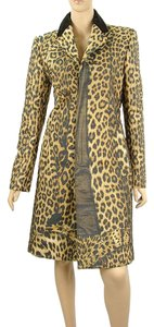 Jean-Paul Gaultier Leopard Animal Print Print Pea Coat