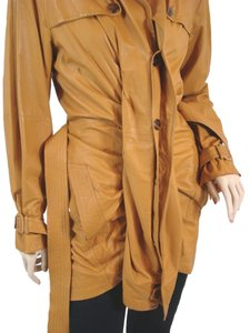 Jean-Paul Gaultier Soft Leather Belted Sheepskin Trench Coat