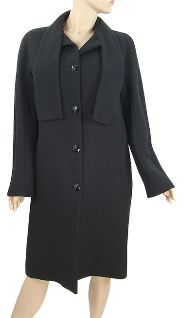 Moschino Wool Hollywood Belted Pea Coat