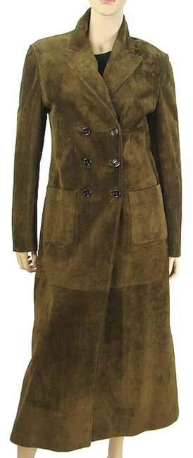 Prada Suede Full Length Trench Coat