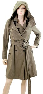 Tod's Belted Trench Cotton Zipper Trench Coat