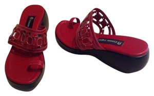 Etienne Aigner Red Wedges