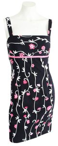 Muse short dress Black White & Pink Floral Sequin & Beading Accents on Tradesy