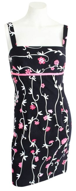 Preload https://item4.tradesy.com/images/muse-black-white-and-pink-floral-sundress-sequin-beading-accents-knee-length-short-casual-dress-size-909053-0-0.jpg?width=400&height=650