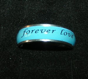 Blue Forever Love Band Ring Unisex Free Shipping