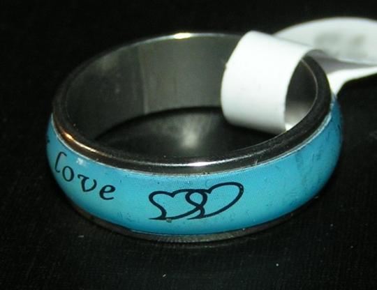 Silver/Blue Bogo Free Stainless Steel Enamel Free Shipping Ring