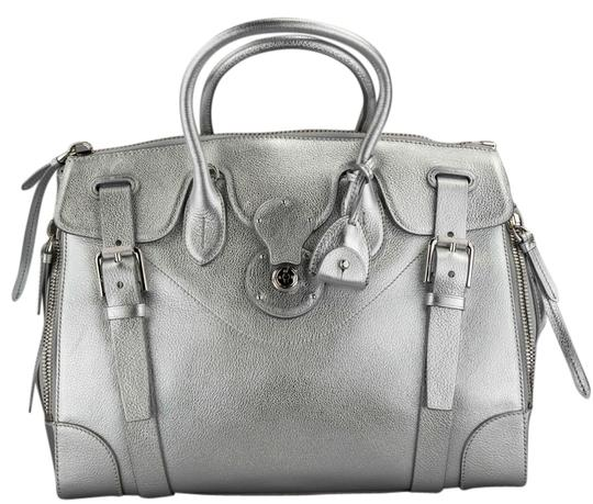 Preload https://item4.tradesy.com/images/ralph-lauren-metallic-pewter-soft-ricky-silver-leather-shoulder-bag-9092473-0-1.jpg?width=440&height=440