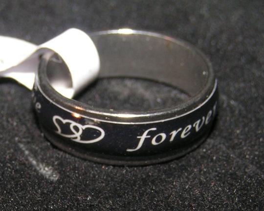 Silver/Black Bogo Free Bundle Save Stainless Steel Enamel Free Ship Ring