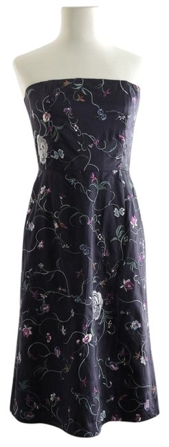 Tibi Strapless Embroidered Silk Cute Dress