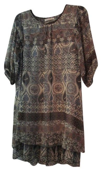 ZARD short dress Blown clr multi print on Tradesy