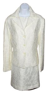 Other White Textured Dress Suit Sz 10 Lined Jacket & Sleeveless Dress
