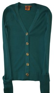 Tory Burch Teal Cardigan Sweater