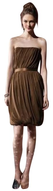 Item - Brown 8108 Short Night Out Dress Size 12 (L)