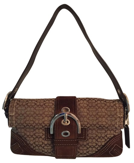 Preload https://item1.tradesy.com/images/coach-signature-bagclutch-brown-suede-leather-and-canvas-shoulder-bag-9093310-0-2.jpg?width=440&height=440