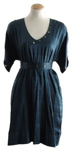 Daryl K short dress Barneys New York Buttons Silk Bamboo Rare on Tradesy