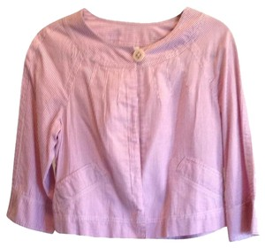 Ann Taylor LOFT Button Down Shirt Pink/white