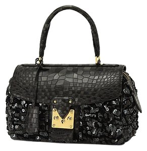 Louis Vuitton Virtuose Carrousel Speedy Les Extraordinaires Handbag Satchel in Damier Crocodile Sequin