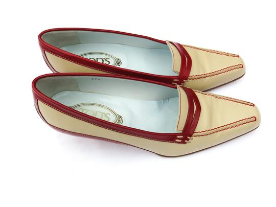 Tod's Italian Leather Two-tone Ivory Pumps