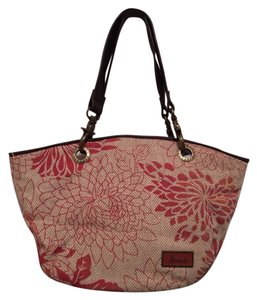 Harrods Tote in Red Cream