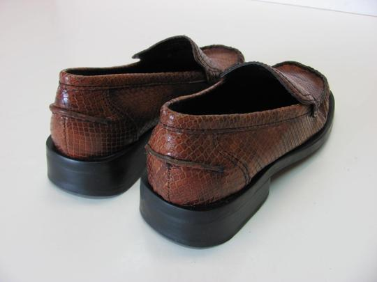 White Mountain Leather Very Good Condition Size 7.50 Reptile Design Brown Flats