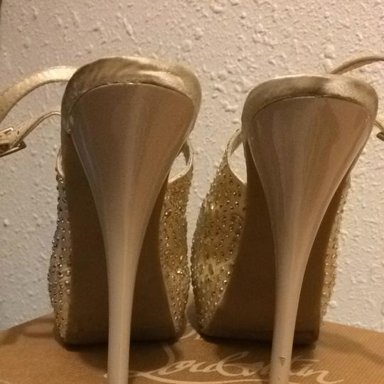 Other Beige And Sparkle Pumps