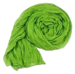 Other Free Shipping!! BRAND NEW! Lime Green Cotton Crinkle Scarf