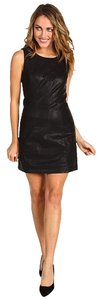 Free People Embroidered Faux Leather Dress