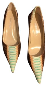 Ramon Tenza Brown Peach Teal Pumps