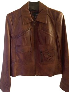 a.n.a. a new approach Whiskey Leather Jacket