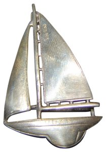 Sterling Silver Sailboat Pin/ Boat name Audax