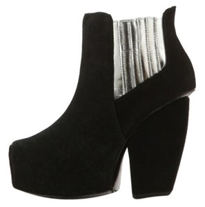 Messeca New York Chunky Heels Suede black Boots